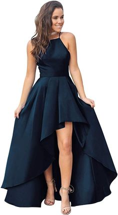 High Low Evening Dresses, High Low Bridesmaid Dresses, Homecoming Dresses Long, Prom Girl Dresses, Pretty Prom Dresses, Prom Outfits, Dresses Short, Beautiful Dresses, High Low Formal Dresses