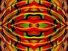Fractal Art Fantasia With Red