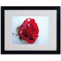 Trademark Fine Art Never Forgotten Canvas Art by Monica Fleet, White Matte, Black Frame, Size: 16 x 20