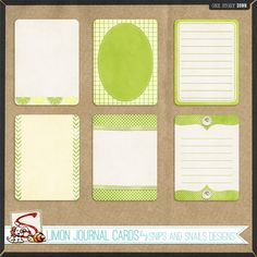 Limon Journal Cards by Snips and Snails Designs