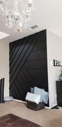 Black Accent Walls, Accent Walls In Living Room, Bedroom Accent Walls, Black Walls, Home Living Room, Bedroom Wall, Living Room Decor, Paint Accent Walls, Bedroom Decor