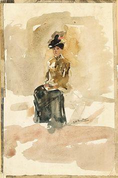 George Hendrik Breitner, A LADY SEATED