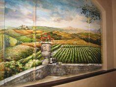 tuscan landscape wall mural murals landscapes pinterest wallpaper muralsg