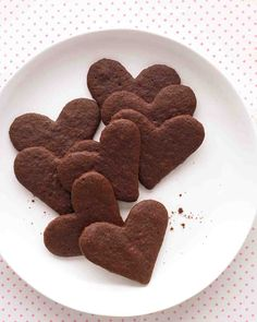 """These crisp, delicate """"Chocolate Sweet Hearts"""" cookies are not only perfect for Valentines Day but they can be made for just about any occasion! Plus, they're only 50 calories."""