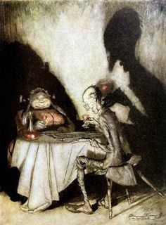 Arthur Rackham – Jack Sprat Could Eat No Fat (Mother Goose)
