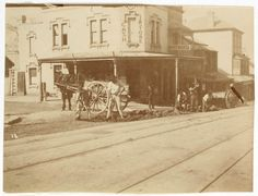 Street scene from Sydney, ca. 1885-1890 / photographed by Arthur K. Syer | by State Library of New South Wales collection