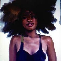 """swordbrush: """"#afro #art #painting #artistsontumblr """""""