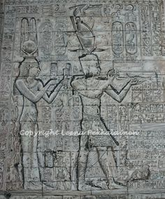 Ancient Egypt Art - Oil painting of Cleopatra and Caesarion
