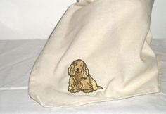 Cocker Spaniel Dog Tea Towel  Embroidered Motif by Dotcolour, £7.00
