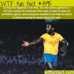 ever notice the heart shape mark formed on his chest from perspiring? How football stopped a civil war in Nigeria