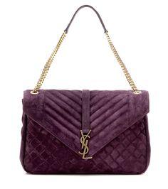 mytheresa.com - Large Tri-Quilt Slouchy Monogram suede shoulder bag - Luxury Fashion for Women / Designer clothing, shoes, bags