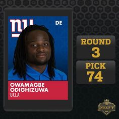 Nike NFL Youth Jerseys - New York Giants select... DE Owamagbe Odighizuwa, UCLA Athletics ...
