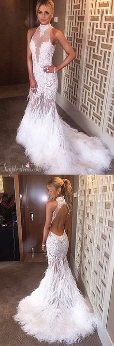 2016 long prom dresses, mermaid prom dresses, white prom dresses with backless
