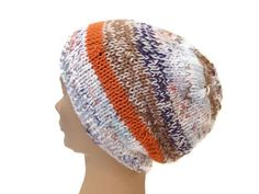 Slouchy Oversized Beanie Hand Knit  Multicolored   Beret Tamm Outerwear Fashion