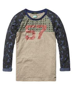 Mix & match T-shirt met print | Jersey l/s T-shirts & tops | Jongenskleding bij Scotch & Soda