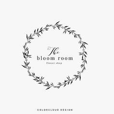 logo design wreath logo minimalist wreath logo flower shop