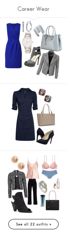 """Career Wear"" by mncolton ❤ liked on Polyvore featuring Precis Petite, Jessica Simpson, INC International Concepts, Lauren Ralph Lauren, Kate Spade, LE3NO, MANGO, Nine West, La Perla and M.i.h Jeans"