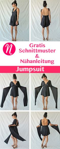 The incredible jersey jumpsuit - free cut pattern- Free pattern for an incredible jumpsuit for women. PDF pattern size S, M, L.de – Magazine for free sewing patterns. Free sewing pattern for a great jumpsuit. PDF-pattern in size S, M and L. Sewing Patterns Free, Free Sewing, Clothing Patterns, Free Pattern, Sewing Tips, Crochet Patterns, Sewing Tutorials, Pattern Sewing, Sewing Clothes Women