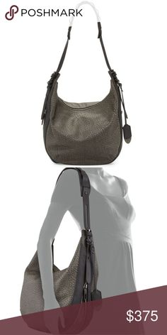 Rag & Bone Bradbury Hobo Bag Excellent like new condition. Carried once for a few hours. Authentic Rag & Bone Bradbury zip hobo bag. This purse is amazing but I am downsizing my collection :) Iron Grey pebble leather with black leather accents. Dust bag included. Purchased at Bergdorf Goodman. Measures 13 inches wide x 11H. Strap can be extended on the sides for crossbody option.   * I do not do trades * No offers * Price is firm * rag & bone Bags