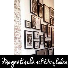 Schilderijlijsten flexibel op de muur hangen zonder gaten te hoeven boren. Te gebruiken op een magneetondergrond. Magneetmuur. Gallery Wall, Frame, Diy, Design, Home Decor, Picture Frame, Decoration Home, Bricolage, Room Decor