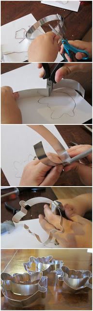 DIY Cookie Cutter Tutorial ~ Awesome you could use the same method to make templates for wire jewelry. You would need to punch holes at the turns so you a surface you could pull against to tighten the corners and curves.
