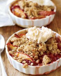 Nectarine-and-Plum Crisp with Oatmeal Streusel - Fruit Cobblers and Crisps from Food & Wine