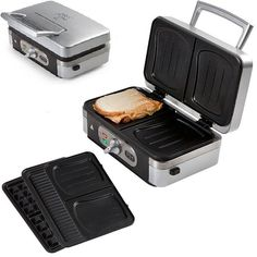 3in1 Waffeleisen Sandwichmaker, Kontaktgrill Kombigerät