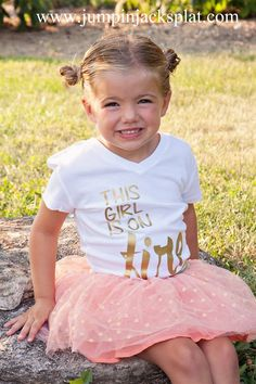 Perfect for Back-To-School!Dress your little girl in one of our trendy new Girly Gold Graphic Tees!Choose from 9styles including: Bless her HeartCrazy Hair Don't CareHello HandsomeGold DiggerOMG no one caresGotta Kiss Myself I'm So PrettyAll About That BassThis Girl is On FireI'm so Fancy  Colors & Styles are printed as shown on models! All lettering is in metallic Gold Oneise Sizes Available:  3-6m6-12m12-18mGirly fit Crew Neck sizes: 2y4yGirly v-necktee's are available in...