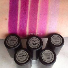 5 Purple MAC Lipsticks, Comparison and Swatches - asoftblackstar