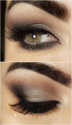 To get the smokey look, use a brush to blend out your bottom eyeliner.