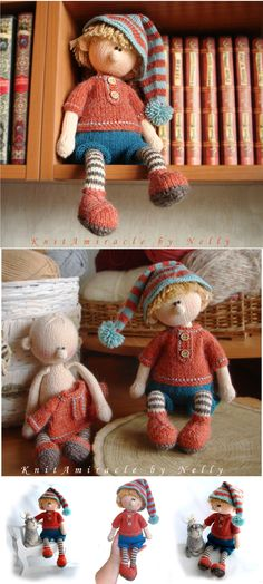 Knitted doll pattern - Martin The House Elf