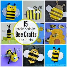 15 Adorable Bee Crafts for Kids
