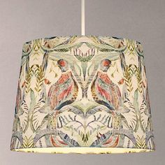 Buy Voyage Netherton Pomegranate Tapered Lampshade, Multi from our Ceiling & Lamp Shades range at John Lewis & Partners. Ceiling Lamp Shades, Flush Ceiling Lights, Pink Light Shades, Modern Lamp Bases, Davey Lighting, Anglepoise, Drum Shade, Lampshades, Hanging Lights