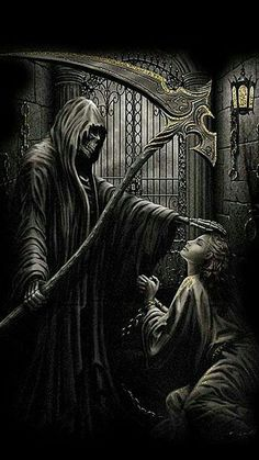 WALLPAPERS - Gothic, skulls, death, fantasy, erotic and animals: death Grim Reaper Art, Grim Reaper Tattoo, Don't Fear The Reaper, Dark Fantasy Art, Fantasy Artwork, Dark Art, Ange Demon, Demon Art, Weed Art