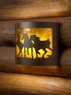 $107.99 Decorative Indoor Wildlife Sconces (Horse/left).See More Wall Sconce Lights at http://www.zbuys.com/level.php?node=3960=wall-sconce-lights
