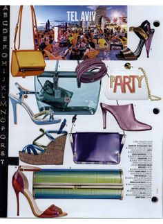 Marie Claire, March 2014 Inspired by Tel Aviv: Ballin metallic leather sandal with stiletto heel. http://shop.ballin-shoes.it/en/