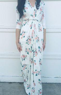 Floral Maxi Dress   Maternity Friendly!