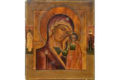Bid Live on Lot 435 in the Art, Antiques, Collectibles Auction from Auktionshaus J. The Saleroom, Tempera, Religious Art, Christian, Icons, Traditional, Antiques, Painting, Russia