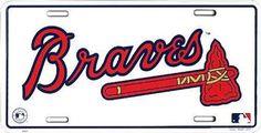 Atlanta Braves MLB Baseball License Plate