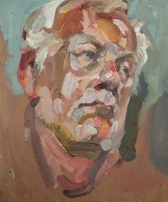 Artist Tim Benson - 'Clifford', oil on board, 12inches x 10inches