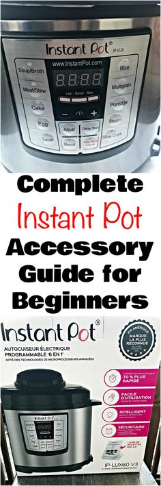 Instant Pot Accessories Products and Tips for Beginners includes a list of all of the items you will need to make quick and easy recipes using the pressure cooker. #InstantPot #InstantPotAccessories #InstantPotRecipes