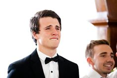 Groom's reaction to seeing the bride