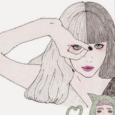 Liked Media - Pikore Simple Illustration, Illustration Girl, Art Sketches, Art Drawings, Creative Pictures, Sketch Painting, Tumblr, Illustrations And Posters, Find Art