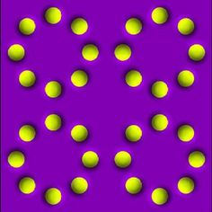 """picture will stay still if your calm if your the """"nervous"""" type the circles will spin"""