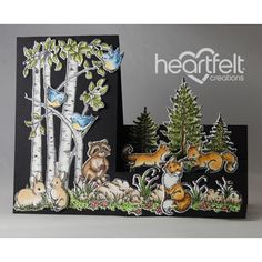 Woodsy Wonderland Side Step Card by rosekathleenr - Cards and Paper Crafts at Splitcoaststampers Pop Up Box Cards, 3d Cards, Fancy Fold Cards, Folded Cards, Handmade Greetings, Greeting Cards Handmade, Side Step Card, Heartfelt Creations Cards, Step Cards