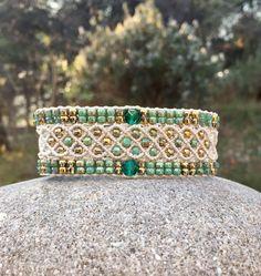 Hippie Chic, Boho Chic, Vert Turquoise, Micro Macramé, Macrame Bracelets, Crystal Jewelry, Friendship Bracelets, Georgia, Crystals