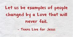 Teens live for Jesus: When we confess, He forgives