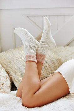 urban outfitters // Solid Thermal Stitch Boot Sock