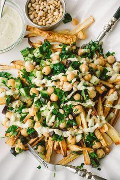 // Vegan Greek Parsnip Fries