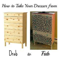 DIY Dresser Makeover - Frugal Mom Eh!